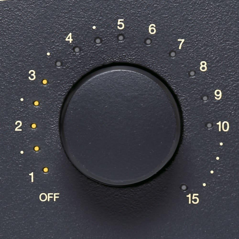 【送料無料/特典付き】BALMUDA/バルミューダ THEトースター[先着300名様 レビューを書いて特典付き] 使い方は「シンプル」 左のダイヤルで4つの専用モードか温度設定(170℃/200℃/230℃)を選び、右のダイヤルで時間をセット。