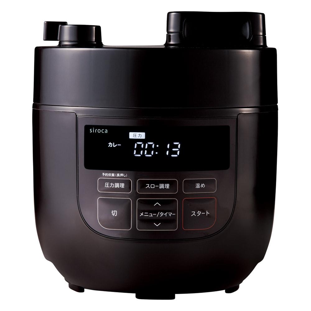 siroca/シロカ ハイブリッド 電気圧力鍋 2L(容量1.3L)SP-D131 ディノス特別セット (ア)ブラウン