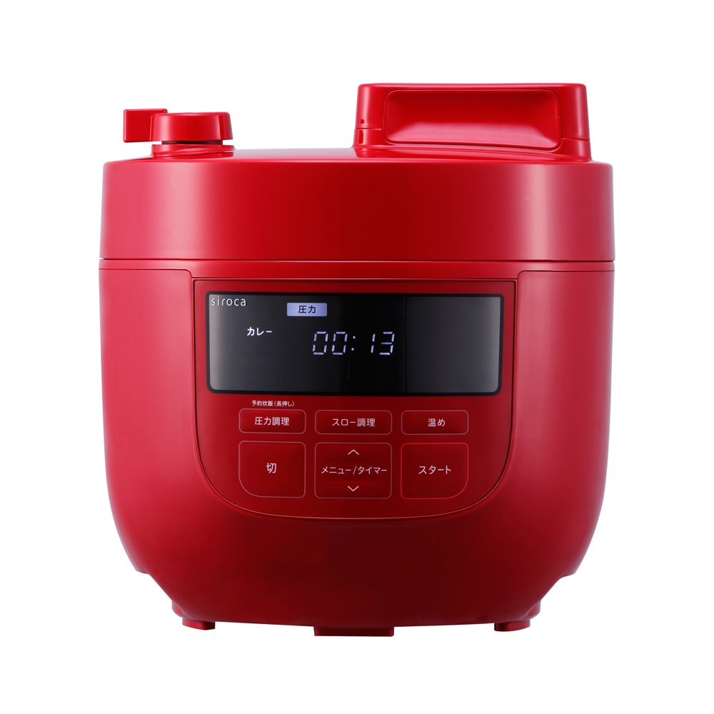 siroca/シロカ ハイブリッド 電気圧力鍋 4L(容量2.6L)SP-4D151 ディノス特別セット (イ)レッド