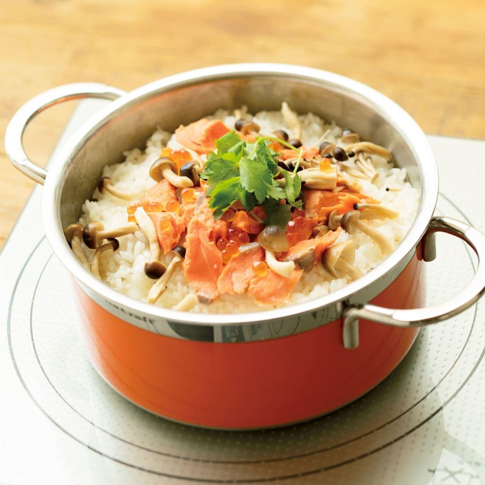 vitacraft/ビタクラフト コロラド4点セット 片手鍋+両手鍋(浅型)+両手鍋(深型)+パンチングザル 炊く  白米はもちろん、玄米や炊き込みご飯もふっくらおいしく炊けます。