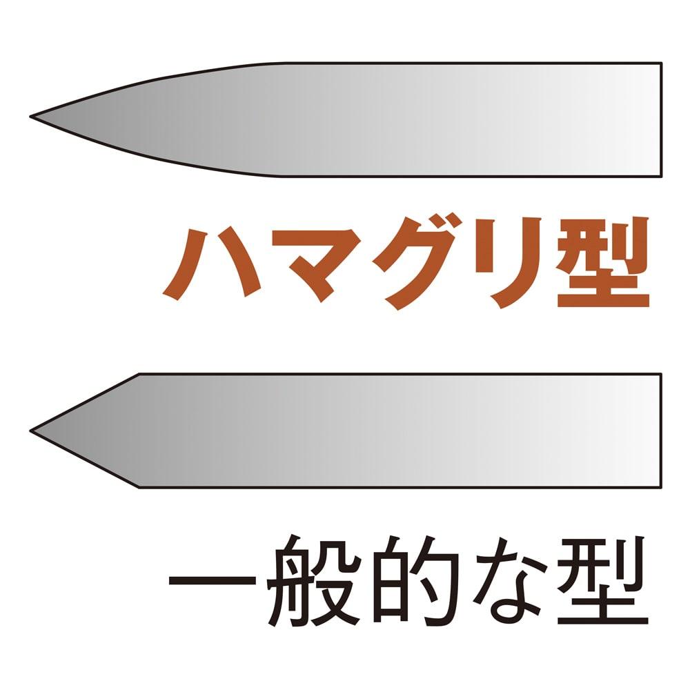 GLOBAL/グローバル 文化包丁 鋭い切れ味 「ハマグリ型」と呼ばれる、緩やかなカーブを描いた断面が、鋭い切れ味の秘密。熟練の職人が、手作業で刃付けしています。