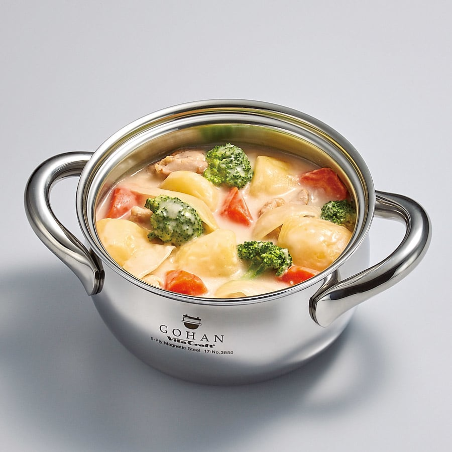 vitacraft/ビタクラフト 全面5層のご飯鍋  シチューも短時間で美味しく。