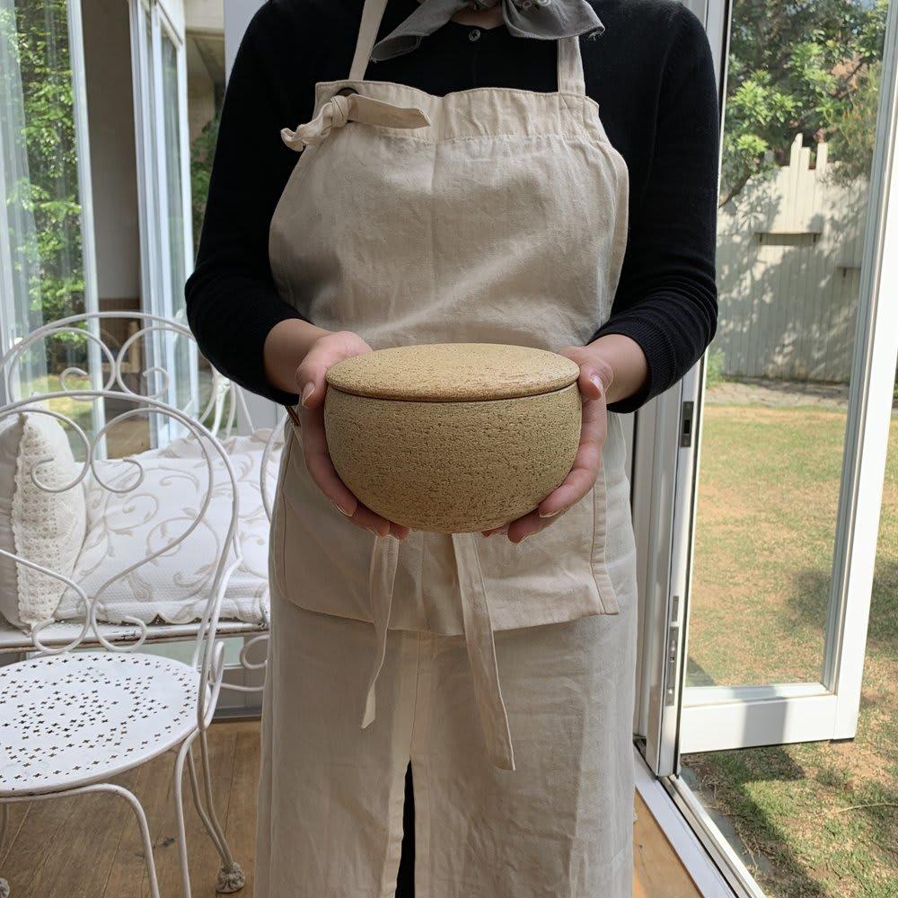 伊賀焼長谷園 陶器のおひつ陶珍 2合用