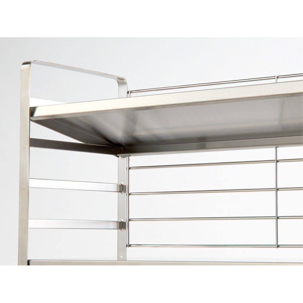 出窓にも使える頑丈ステンレスラック 幅60 1段の耐荷重は20kg。美しく安定感のある丈夫なつくり。