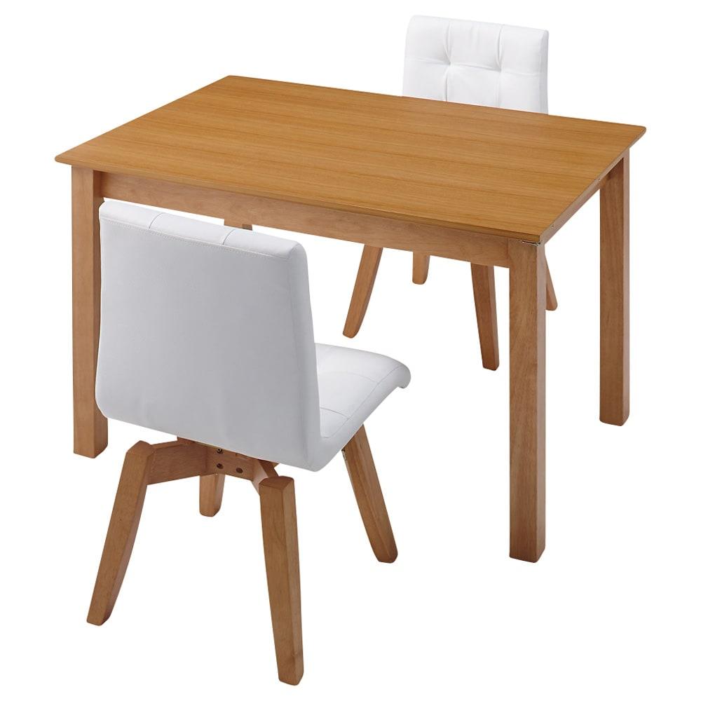 ナチュラルモダン伸長式オーク天然木ダイニングテーブル・幅110・150奥行75高さ70cm ≪テーブル通常時幅110cm≫対応人数めやす2~4名 テーブル下高さ68cm