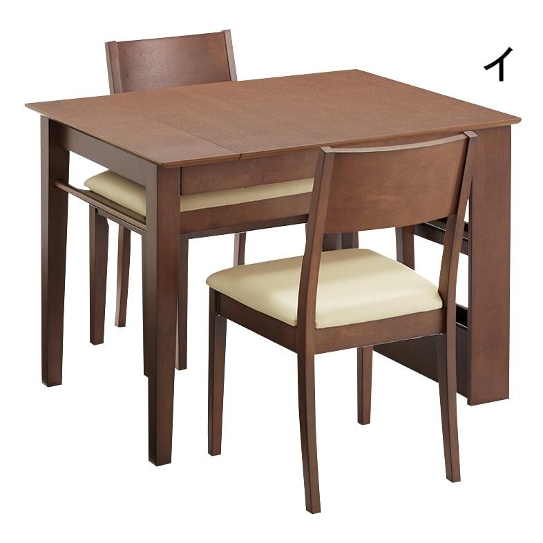 伸長式ダイニングシリーズ ベンチ 小 同シリーズの伸長テーブルの下にぶら下げて収納できます