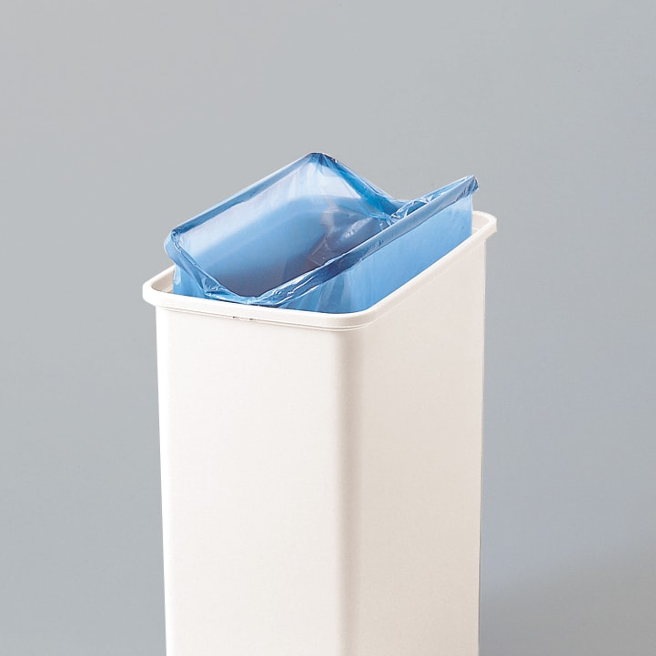 プッシュ式ごみ箱 26.5L ゴミ袋をしっかりと抑えることができます。