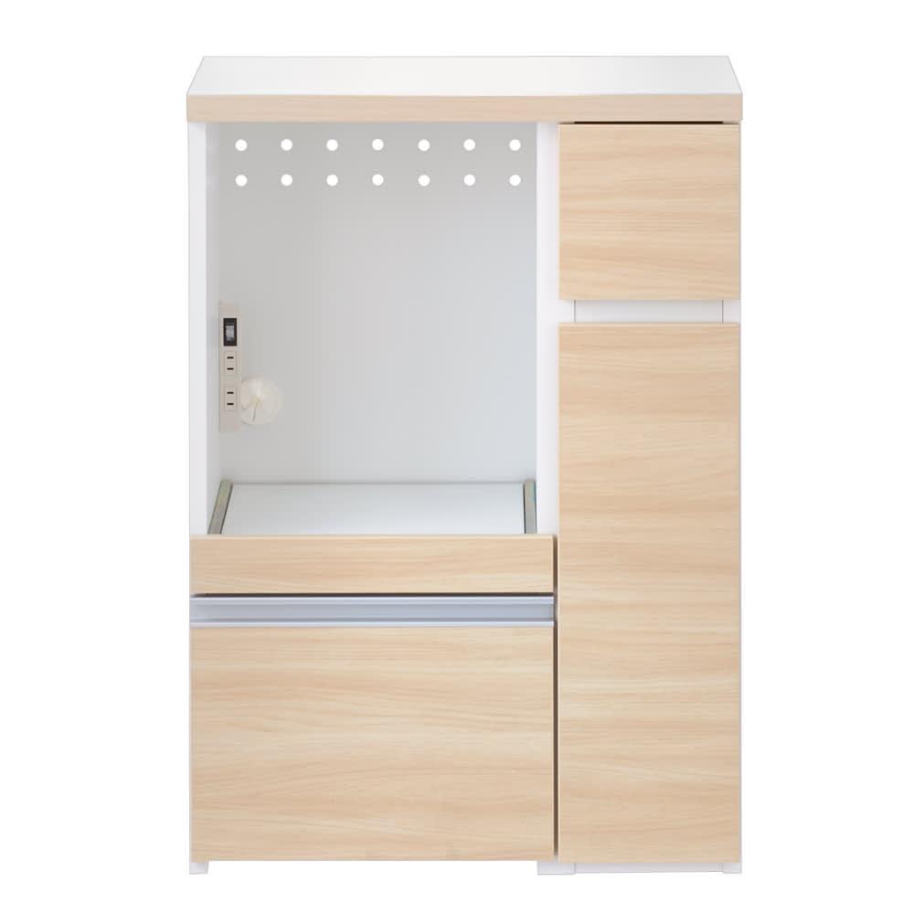 サイズが選べる家電収納キッチンカウンター ロータイプ 幅60cm (イ)ナチュラル