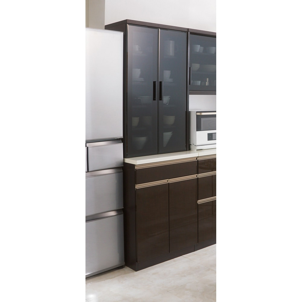 高機能 モダンシックキッチン 食器棚 幅60奥行51高さ193cm 幅60奥行51高さ193cm