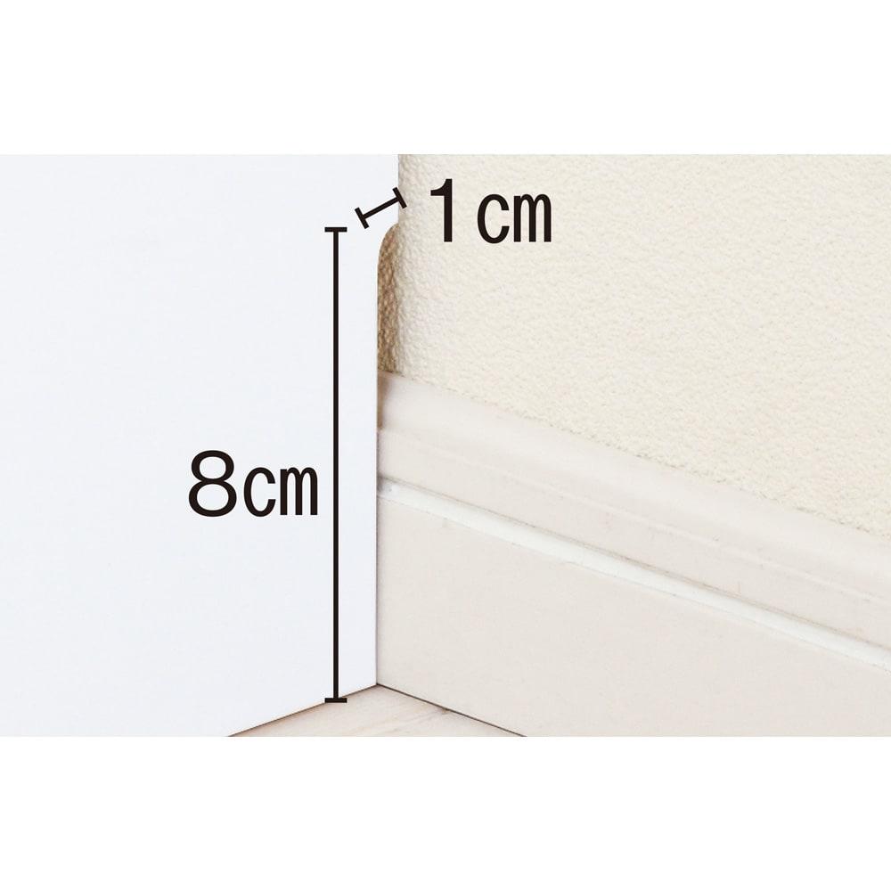 国産!ツヤツヤ光沢が美しい 薄型スクエアキャビネット(奥行22cm) 収納庫・幅80cm 幅木よけで壁にぴったり設置できます。