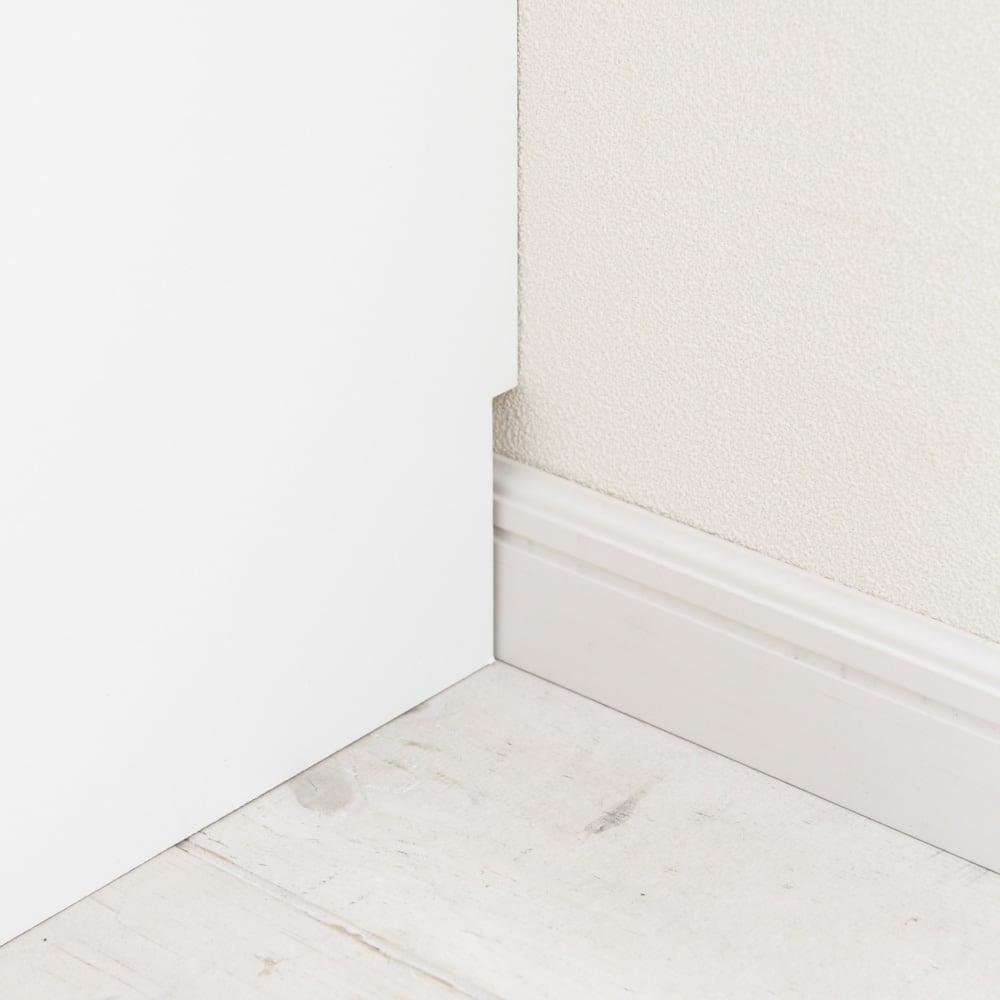 引き戸カウンター下収納庫 奥行23高さ87cmタイプ オープンラック・幅59.5cm 幅木よけ(8×1cm)付き