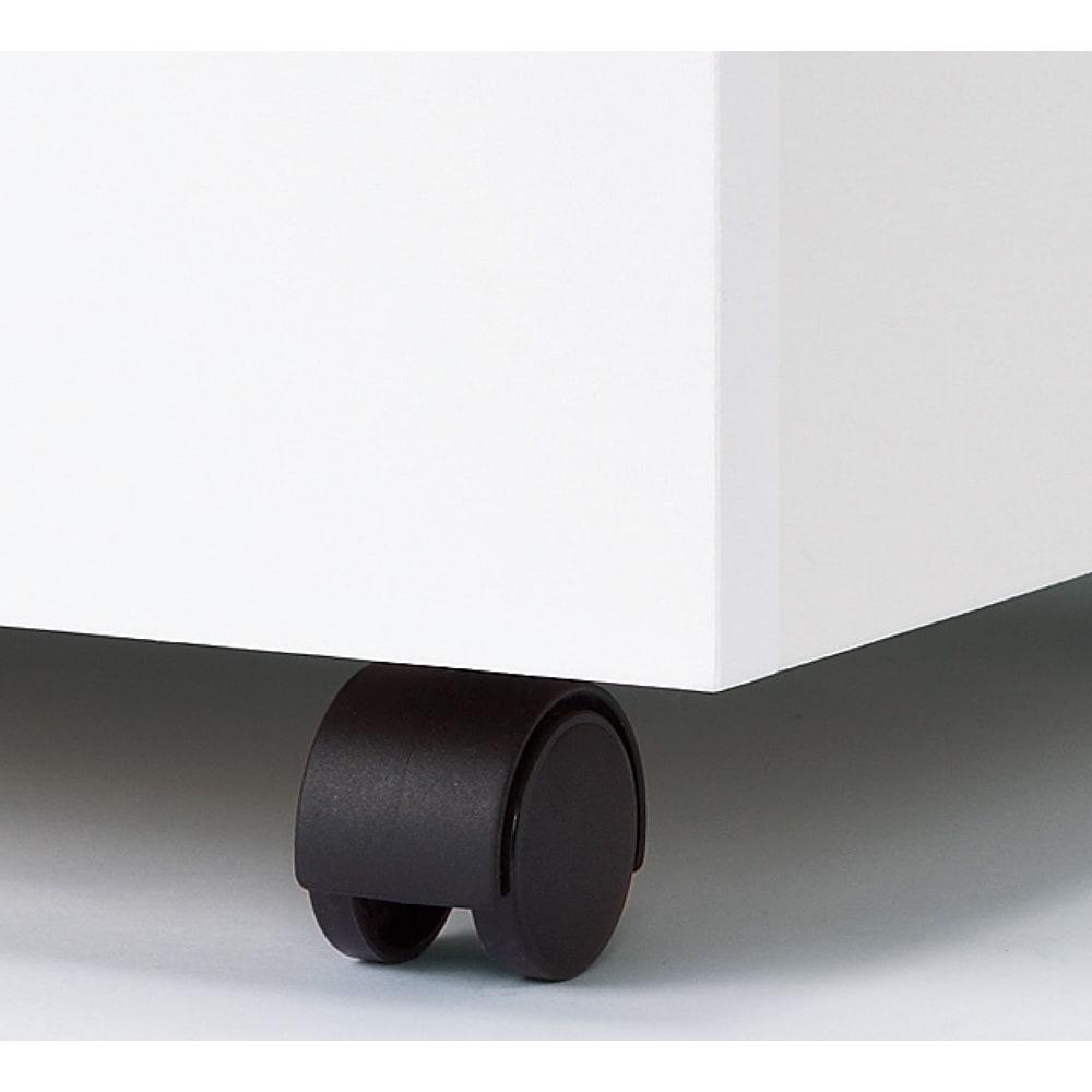 間仕切りキッチンカウンター カウンターデスク 幅65cm チェストとワゴンはキャスター付き。