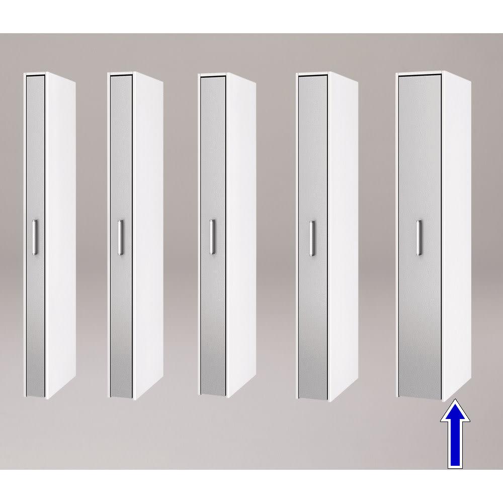 ボックス付きリバーシブル すき間収納庫 幅29奥行58cm シリーズは幅15、17、19、21、29cmの5タイプ 5サイズから選べます。 ※写真は奥行58cmタイプシルバー面使用時です。