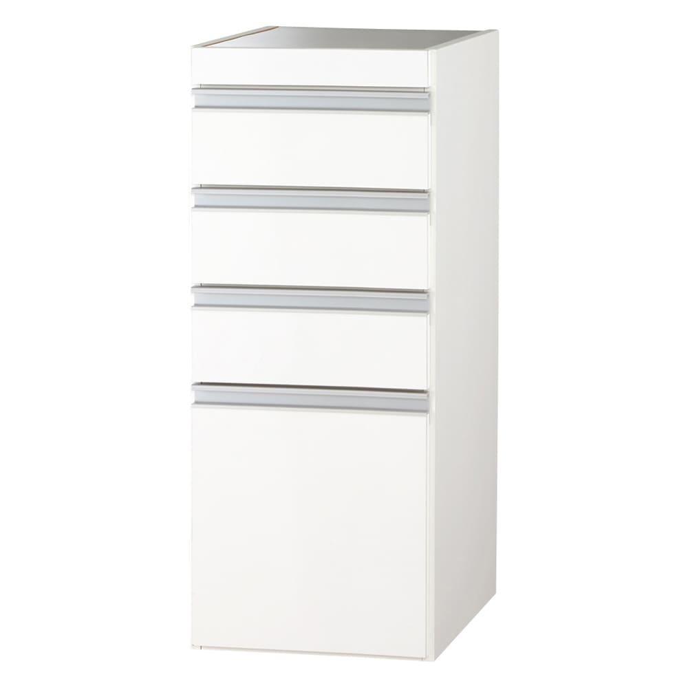 色が選べるステンレス天板 すき間収納庫 ロータイプ 幅35高さ85cm (イ)ホワイト