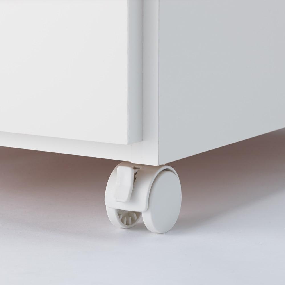 組立不要 ステンレス天板隙間収納 段違い棚扉タイプ 幅30cm・奥行55cm