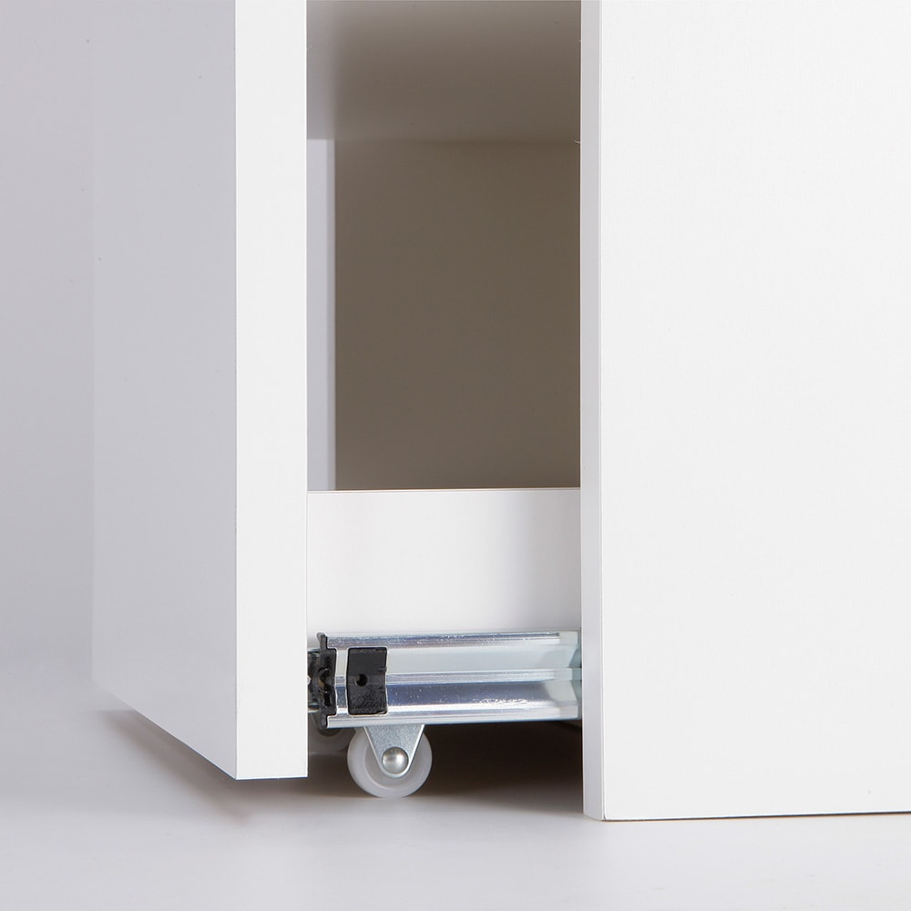 左右どちらからも取り出せる すき間スライド食器棚 ハイタイプ 幅35奥行46.5cm キャスター付きでスムーズに引き出せます。