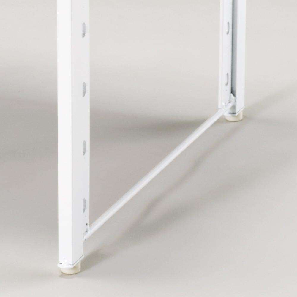 頑丈!カウンター上省スペース 脚部幅1cmキッチン収納ラック 棚1段タイプ 脚部は幅1cmで、すき間にも設置OK。