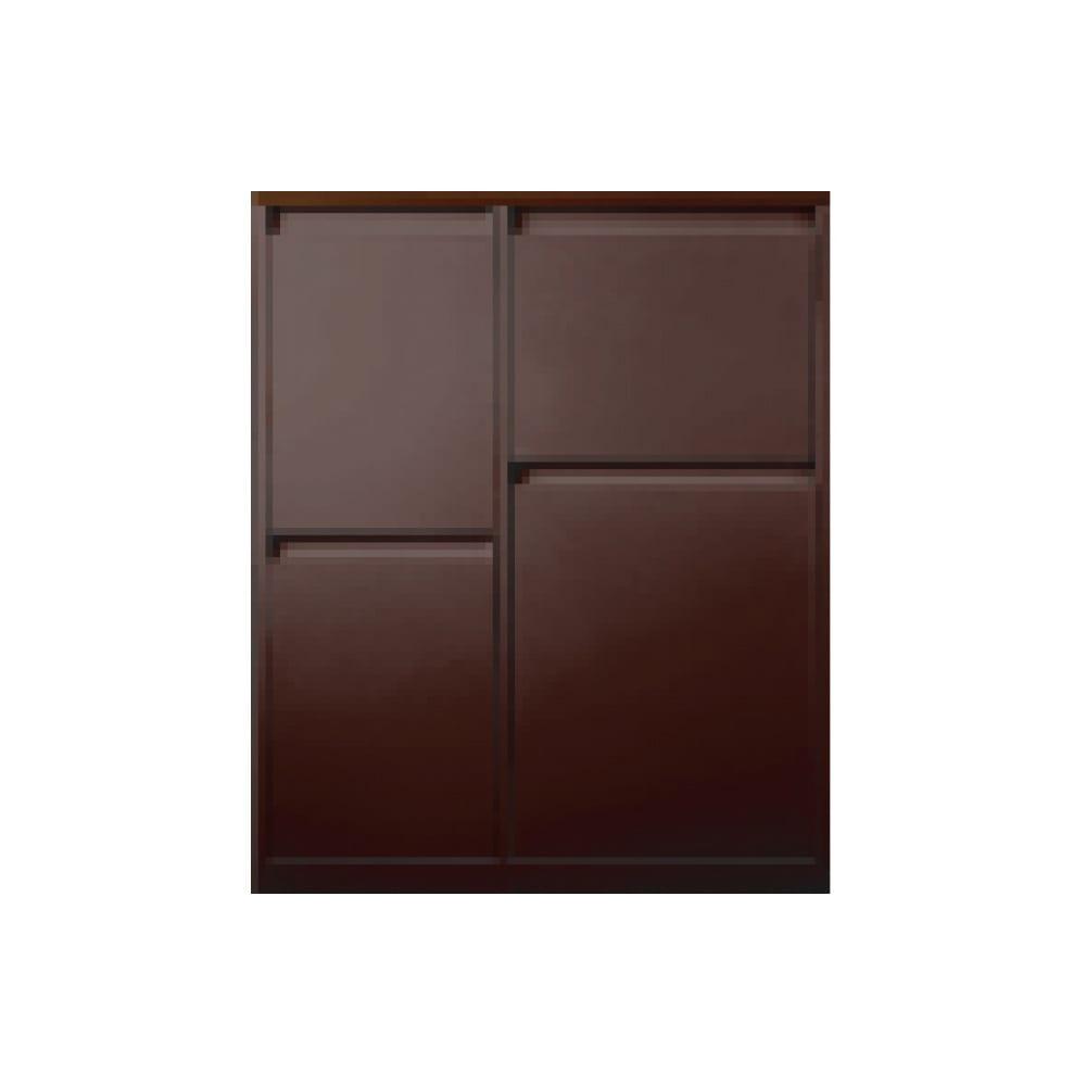 カラフルなペールでわかりやすく分別できる スチール製ダストボックス 幅72cm 高さ95cm (イ)ブラウン