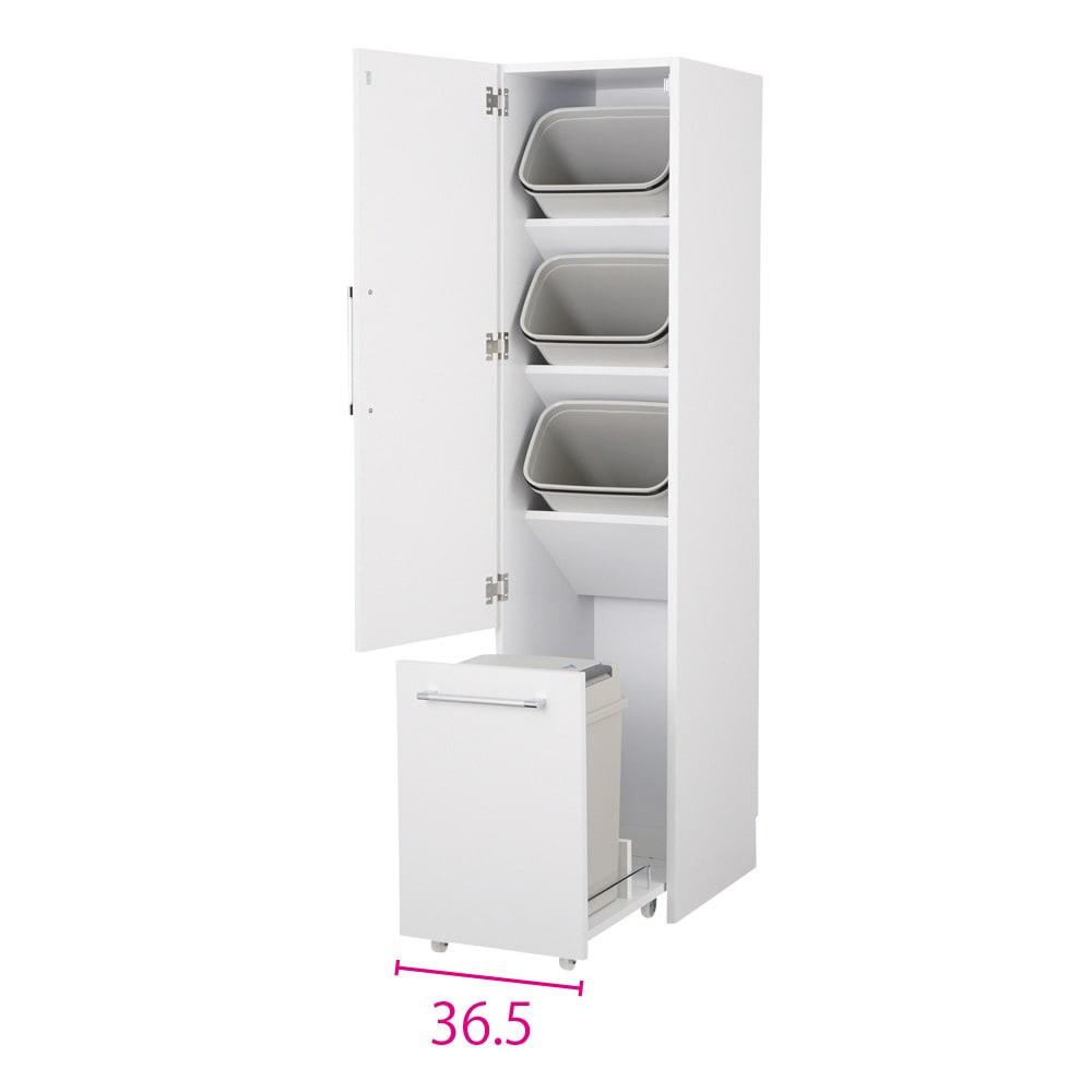 組立不要 キッチン分別タワーダストボックス 4分別 ゴミ箱タイプ (ア)ホワイト