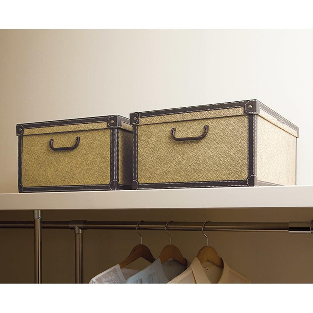 イタリア製収納ボックス 中サイズ (オ)クラシック