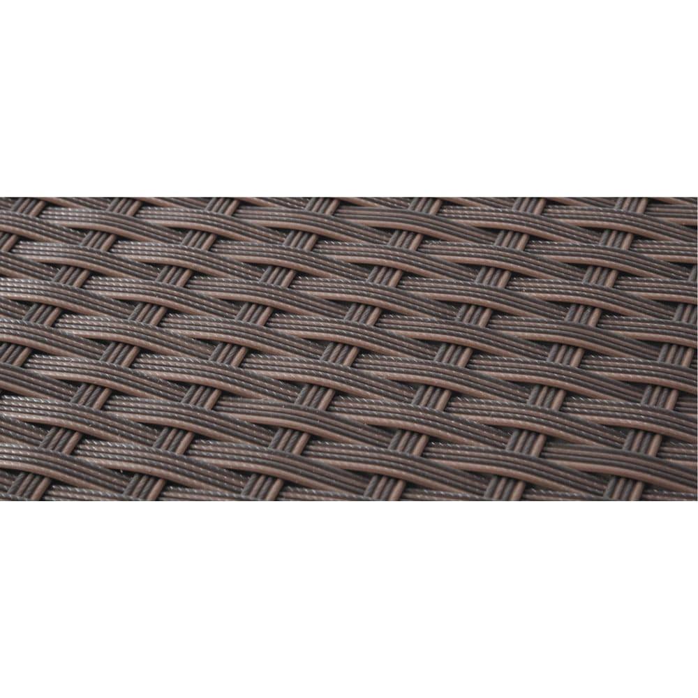 ラタン調コンパクトテーブル 3点セット 植物と相性がよく耐久性に優れた人工ラタン編み。