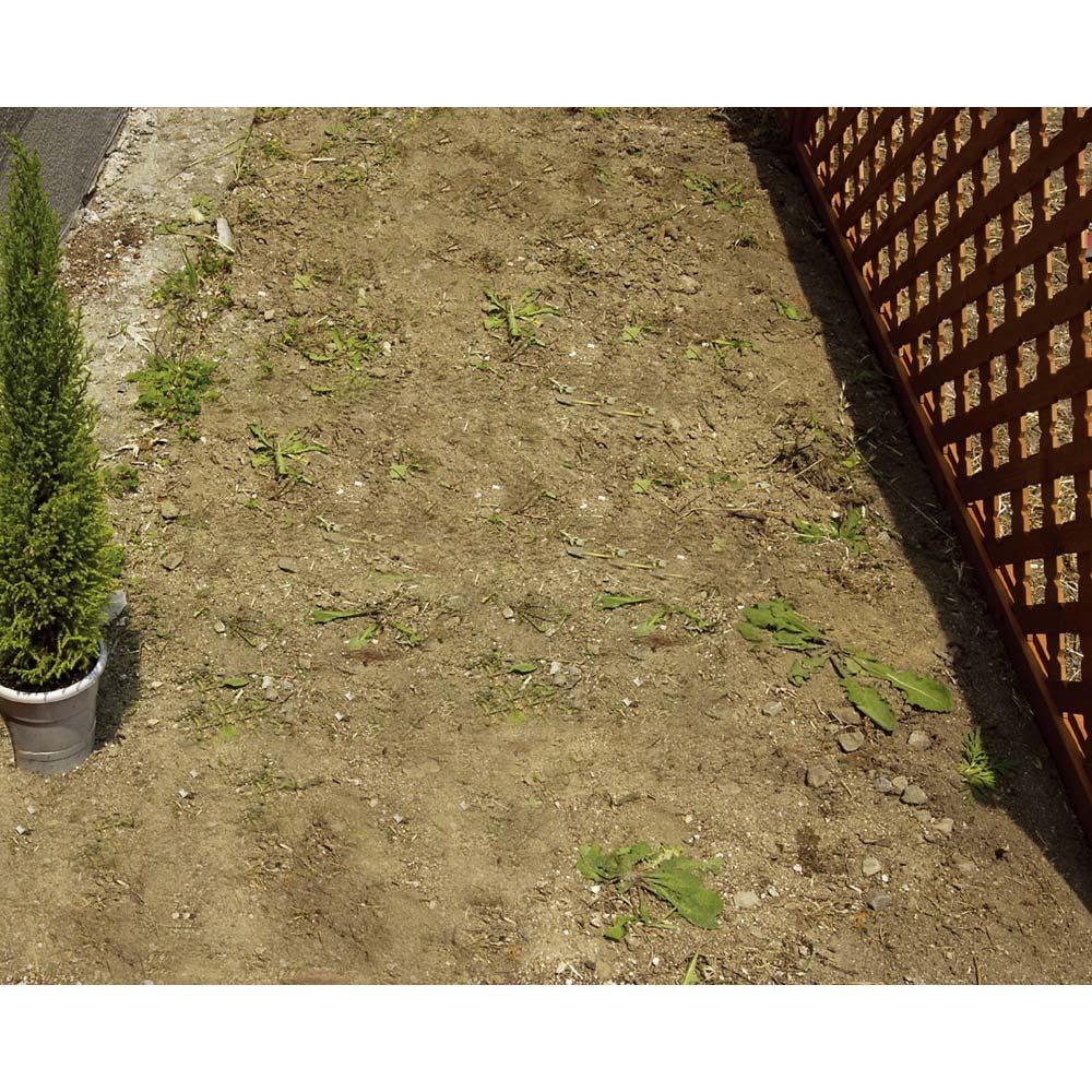 雑草が生えない天然石マット 同色12枚組 通路での例(使用前)