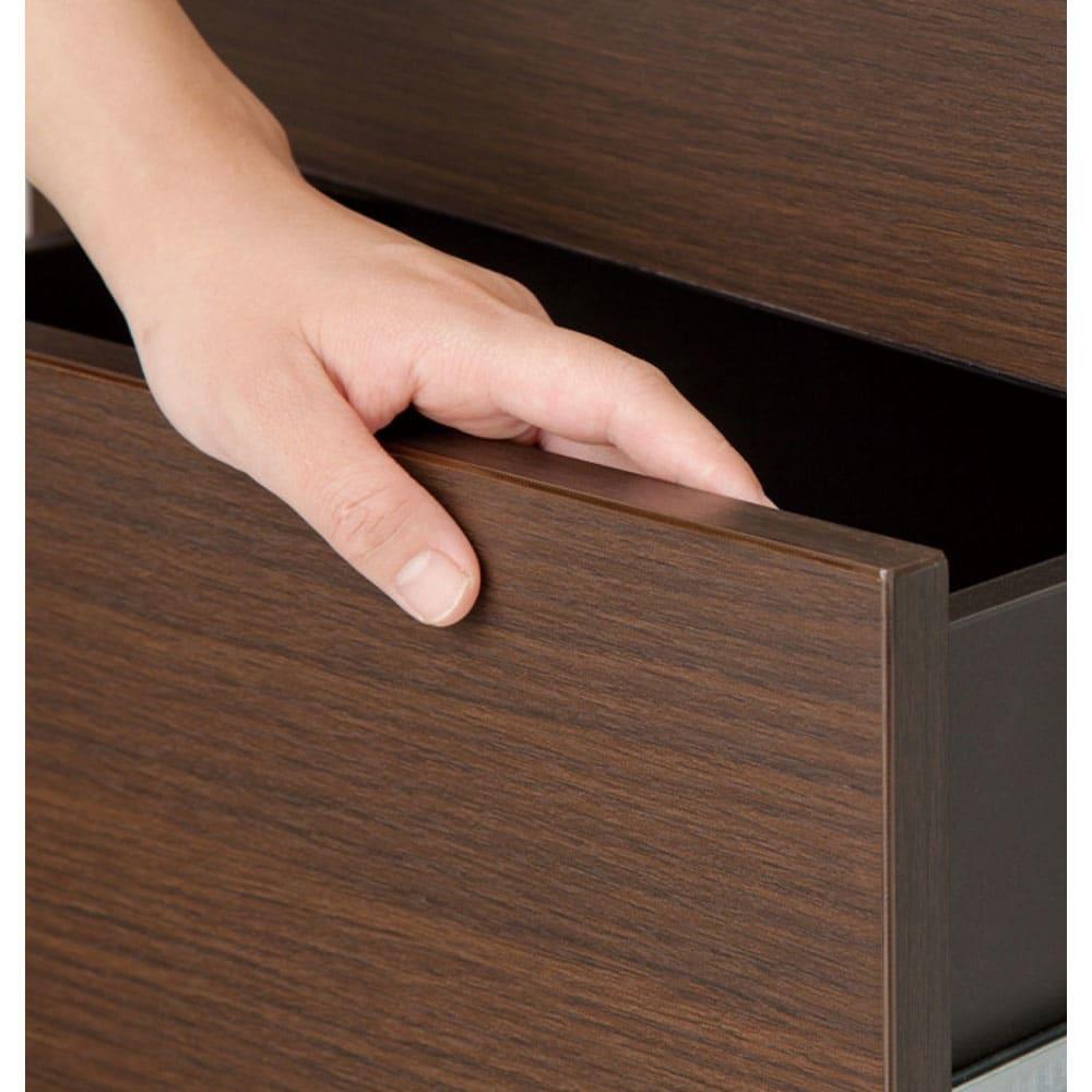 インテリアに合わせて8色&13タイプから選べるシューズボックス 上置き 幅75高さ30~80cm 扉の全周エッジを木口面取り仕上げで安全。