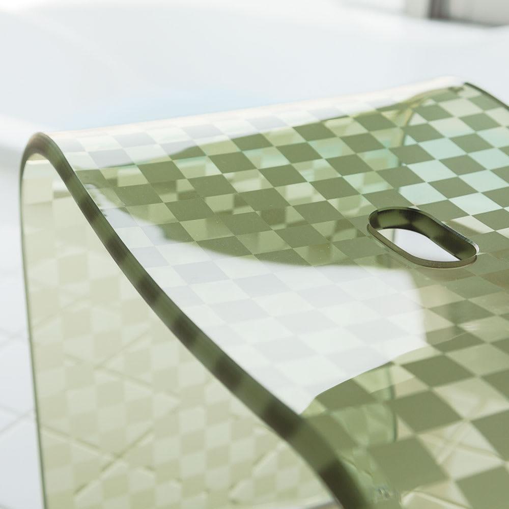 アクリル製 バスチェア単品(サイズ:小・大・特大) (イ)グリーン系