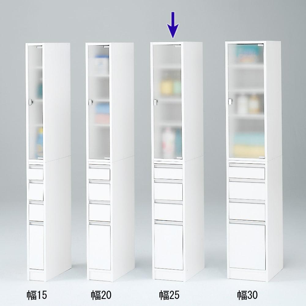 アクリル扉すき間収納庫 奥行29.5・幅25cm シリーズは幅15cm~30cmまでの5cm刻み。 4サイズから選べます。 ※写真は奥行44.5cmタイプです。