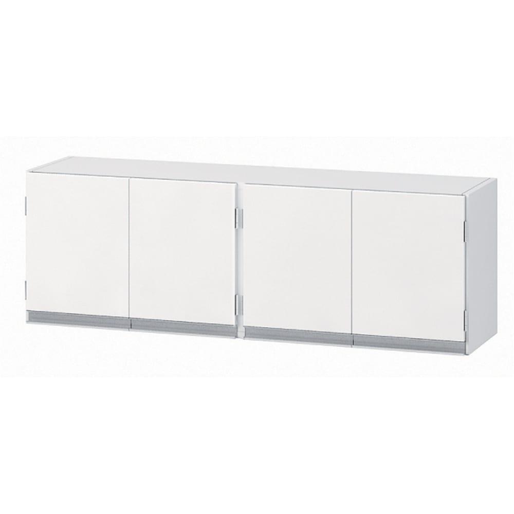 光沢仕上げ吊り戸棚 扉タイプ 幅120cm 前面は光沢仕上げで清潔感があります。