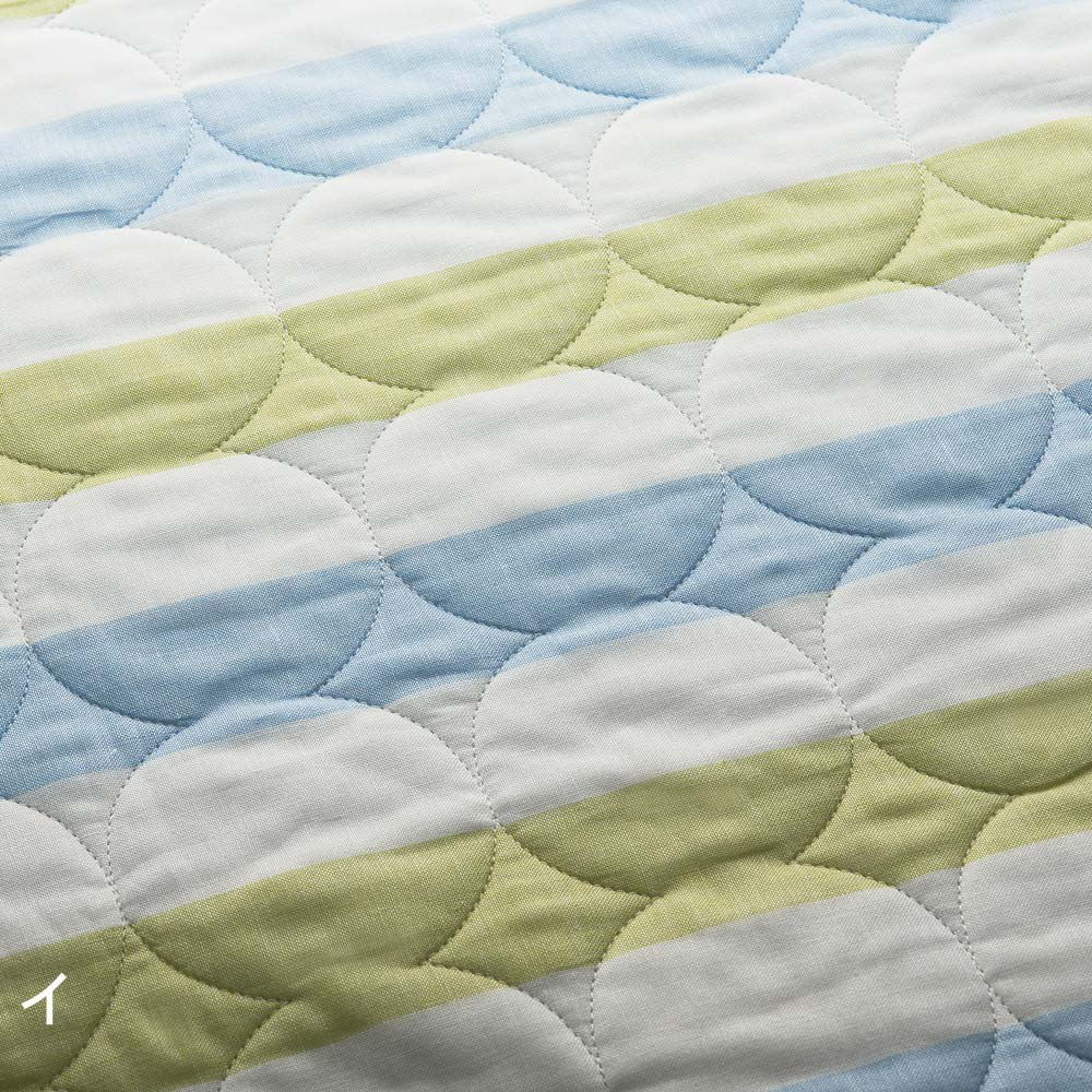 医療用純度の脱脂綿とガーゼを使ったカラフルパシーマ(R)ベビー 肌掛けシーツ (イ)さわやかなブルーボーダー