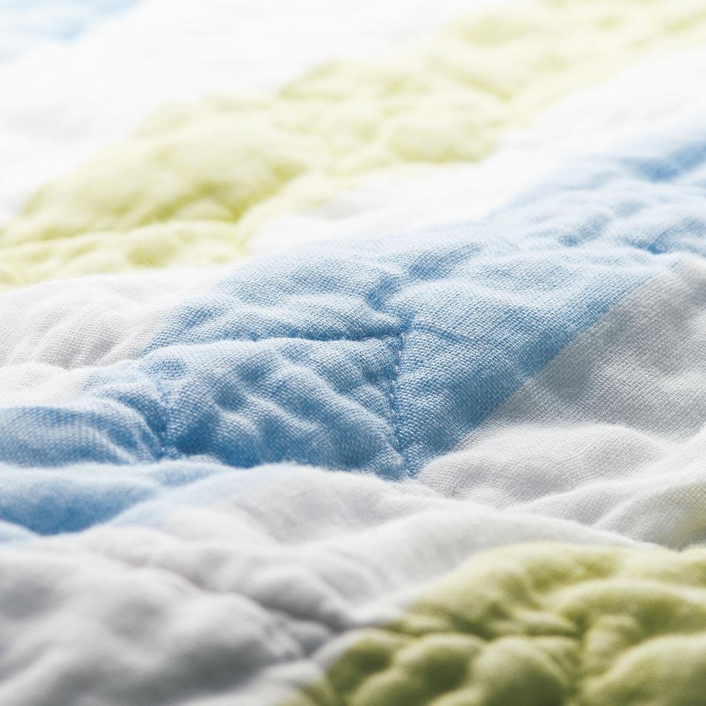 医療用純度の脱脂綿とガーゼを使ったカラフルパシーマ(R)ベビー 肌掛けシーツ 110回洗ったパシーマ(R)。洗濯するほどふわふわなめらかになる手放せないやわらかさです。