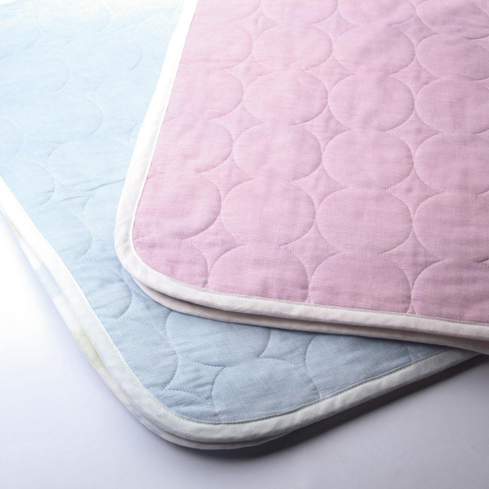 医療用の脱脂綿とガーゼを使ったカラフルパシーマ pasima (R)ベビー 肌掛けシーツ 大小2枚セット 裏面は無地になっていてリバーシブルとしても使えます!