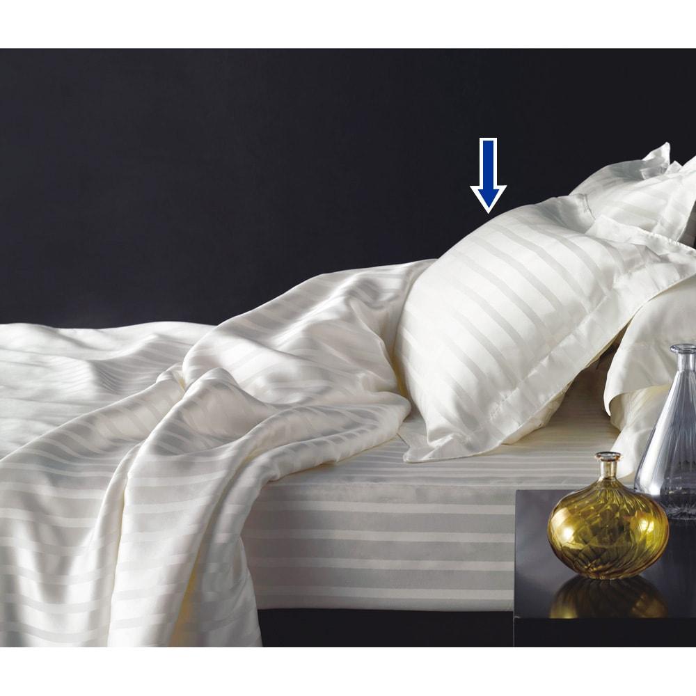 オールシルクシリーズ サテン織りピローケース ピローケースは1枚とお得な2枚組をご用意。
