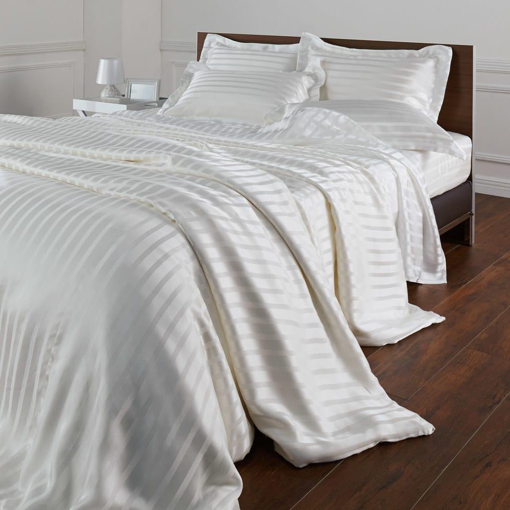 オールシルクシリーズ サテン織りピローケース ※シリーズコーディネート例。お届けはピローケースのみです