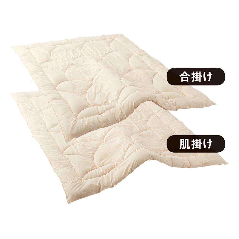あったか洗える清潔寝具 2枚あわせ掛け布団 クイーンロング 対象品番:【清潔寝具】727324~38の中から1点以上、【ミクロガードカバーリングシリーズ】727301~23の中から1点以上の組合せで5%OFFになります。