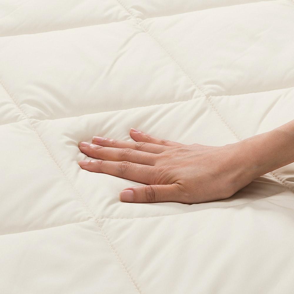あったか洗える清潔寝具 ふんわり敷きパッド シングルロング ふかふかな寝心地。
