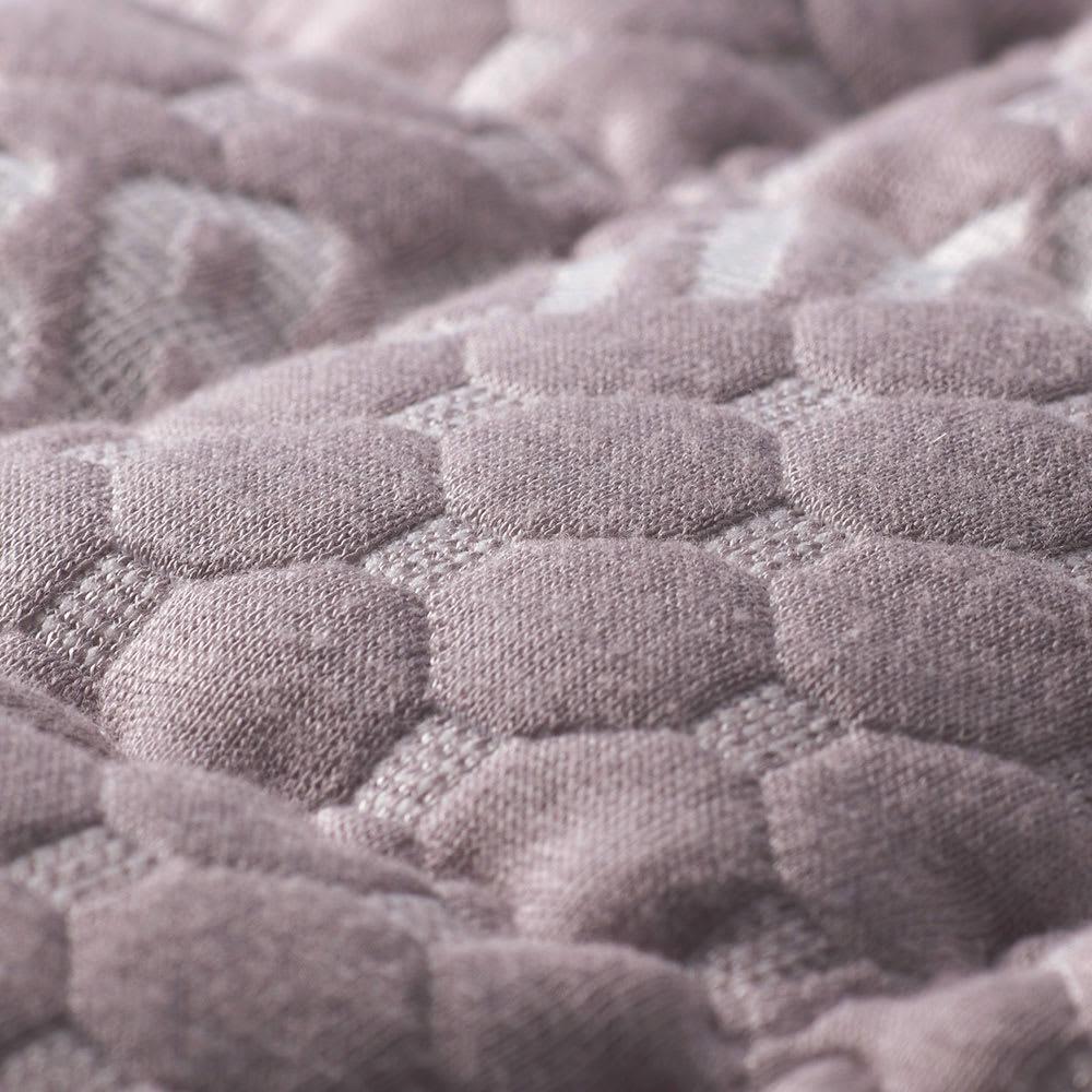 ブレスエアー敷布団デラックス側カバー単品 [セミシングル・シングル・セミダブル・ダブル] (側生地アップ) ほわほわのニット生地と約1.5倍に増量したキルトの中わたがふっくらとした寝心地に。