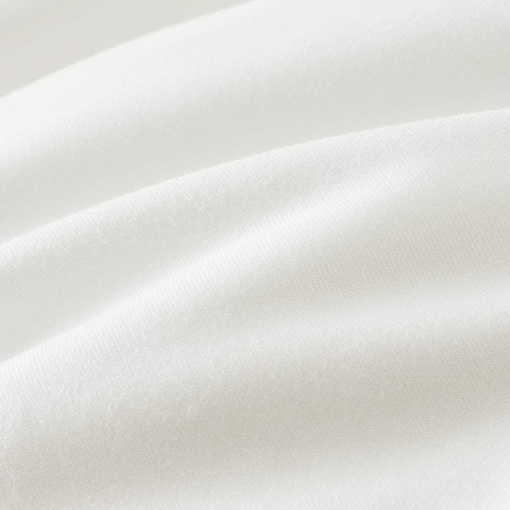 スノーホワイトシリーズ 掛けカバー (ア)ホワイト 生地アップ