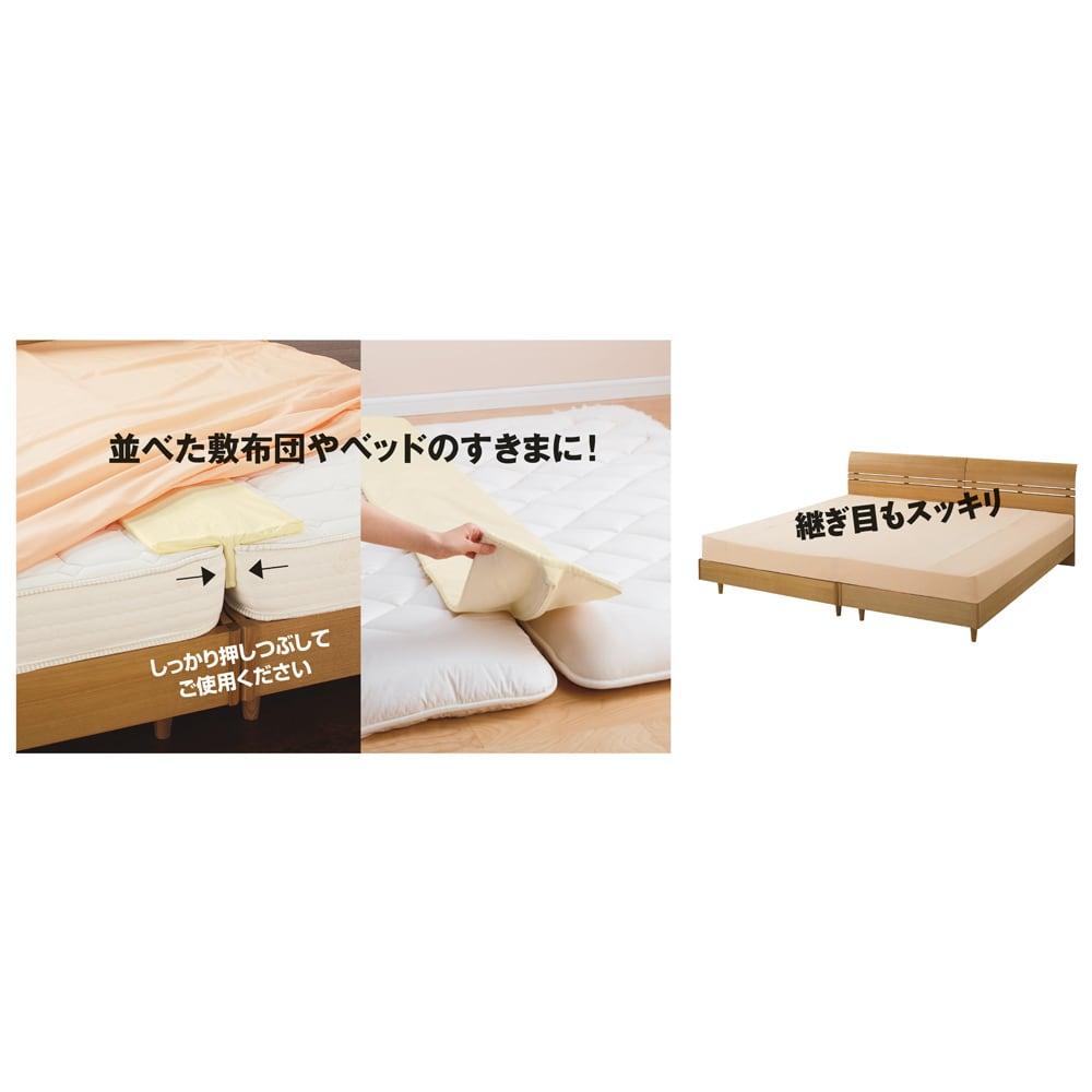 速乾・消臭アクアジョブ(R)パッドシーツ レギュラータイプ 【ファミリーサイズ:約幅200・220・240・280cm】 すきまパッド(別売)と同時使用がおすすめ隙間を埋めてくれるので段差も気になりません。敷布団用とベッド用があります。