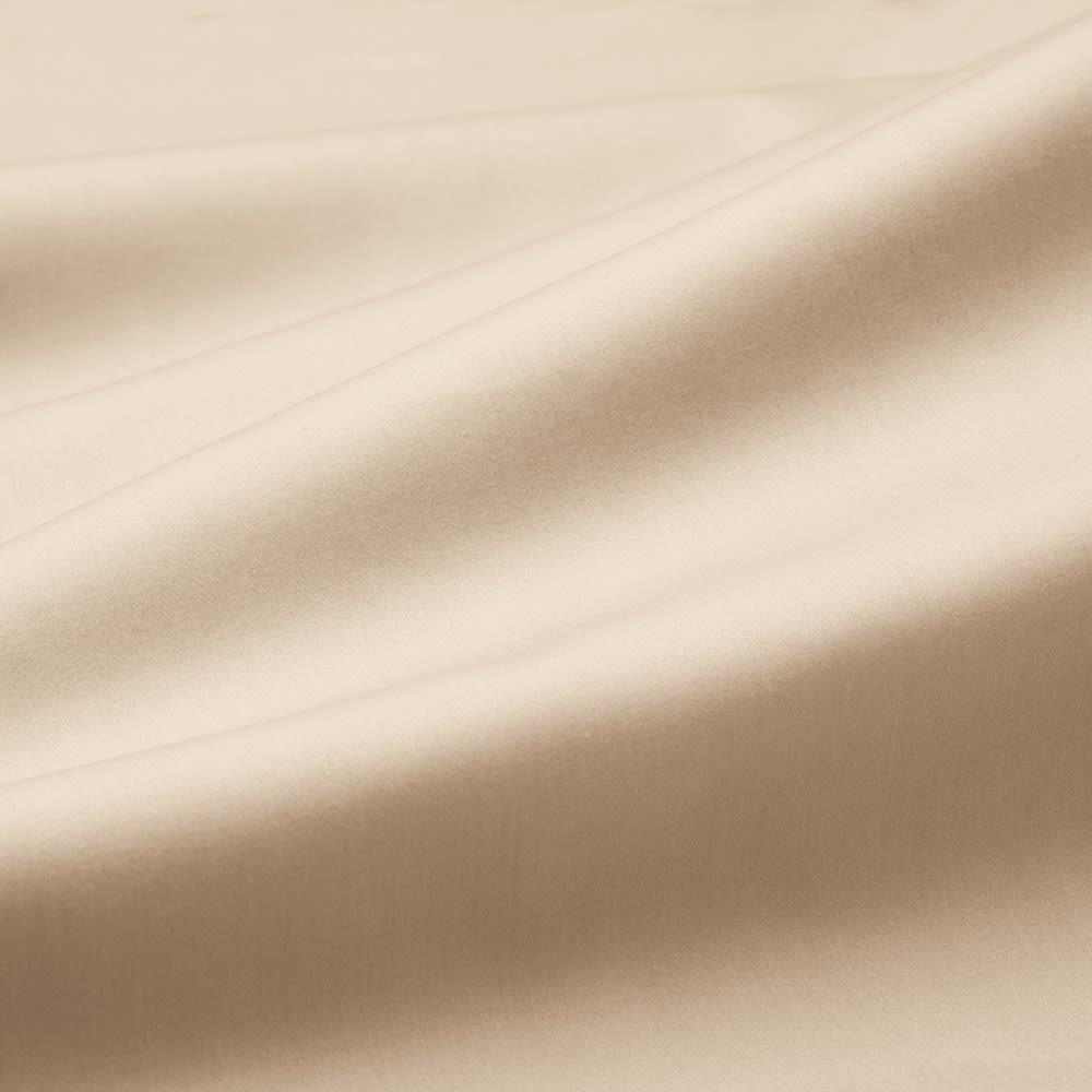 スーピマ超長綿を贅沢に使用したサテン織り  ベッドシーツ 【BASIC COLOR】(イ)ベージュ