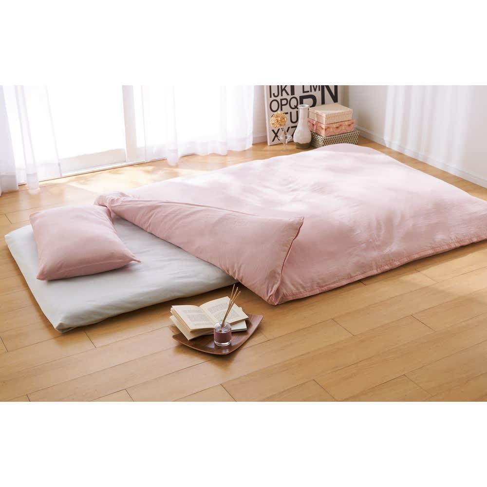 【東京西川】新生活シングル5点セット 高品質な西川の寝具には二重ガーゼカバーがオススメです!