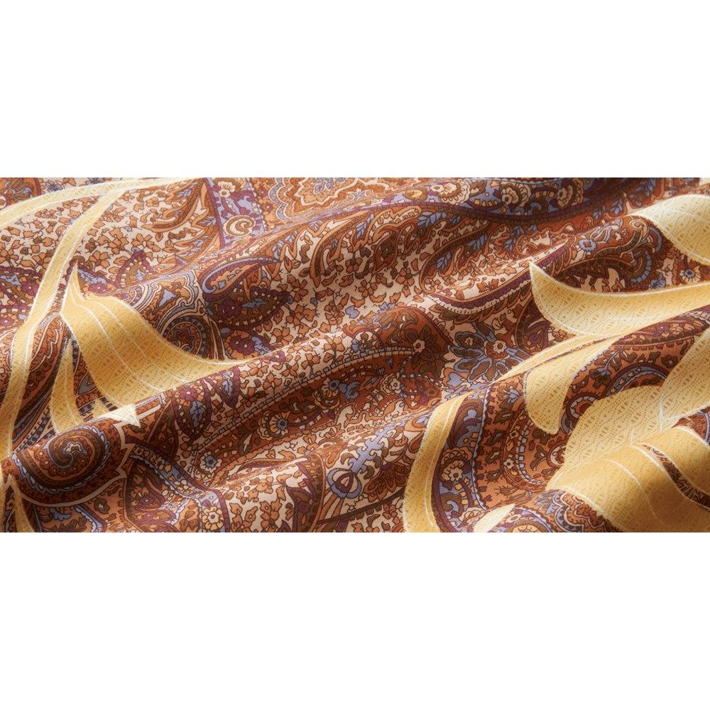ポーランド産マザーグースプレミアム羽毛掛け布団 同柄超長綿掛けカバー 軽くてなめらかな超長綿100%。