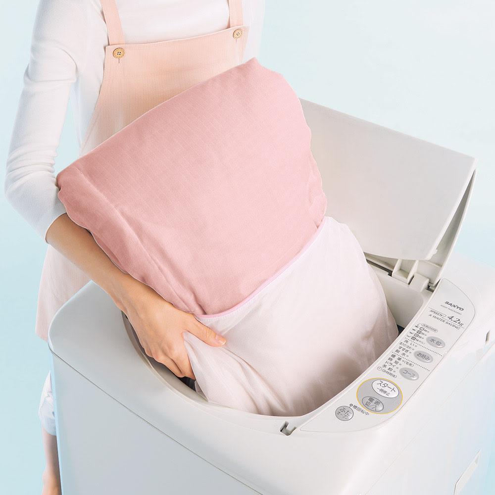 洗える二重ガーゼダウンケット シングル 洗濯機で洗えていつでも清潔!