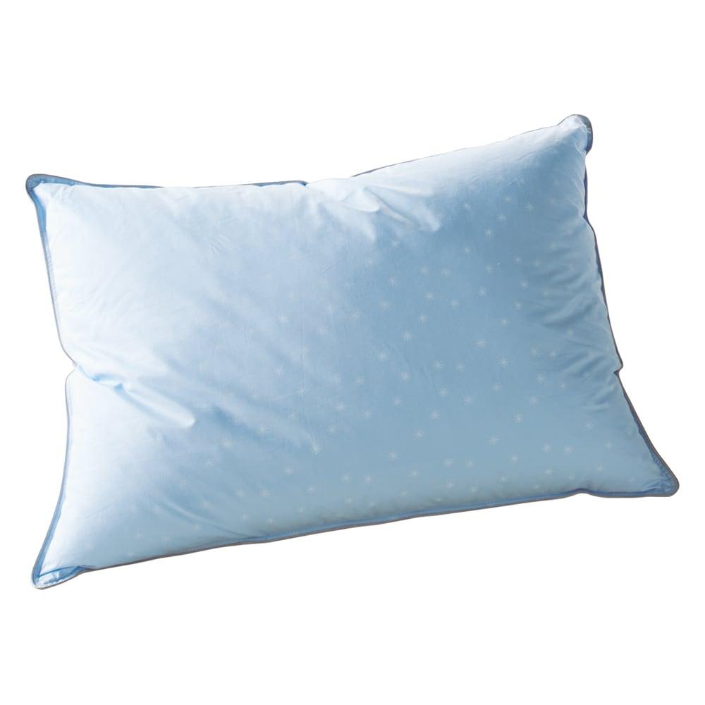 フォスフレイクス枕クラシック&ロイヤーレ 2個組 (ク)パウダーブルー 大判サイズ(50×70) やさしい肌触りの綿100%カバー。