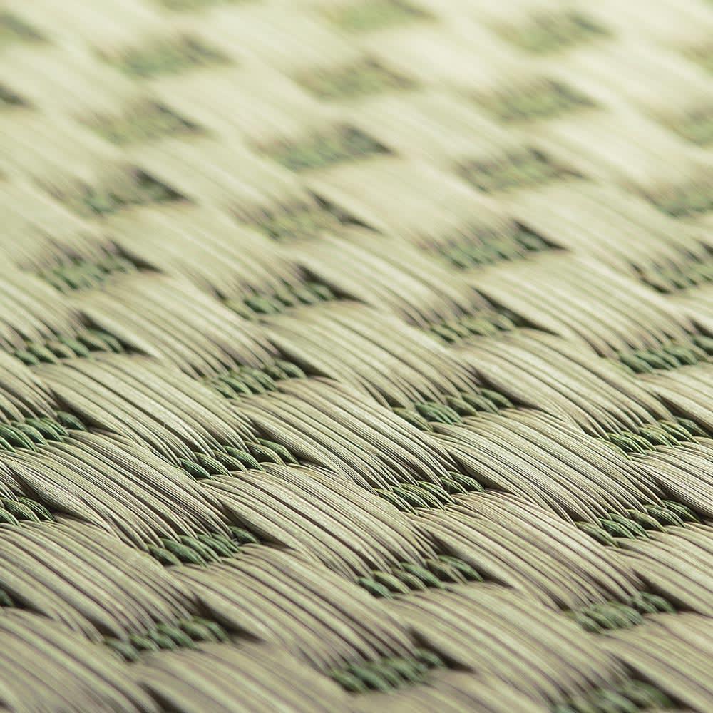 九州産の良質い草 折りたためるい草の敷きマット ドット柄でおしゃれなデザイン。