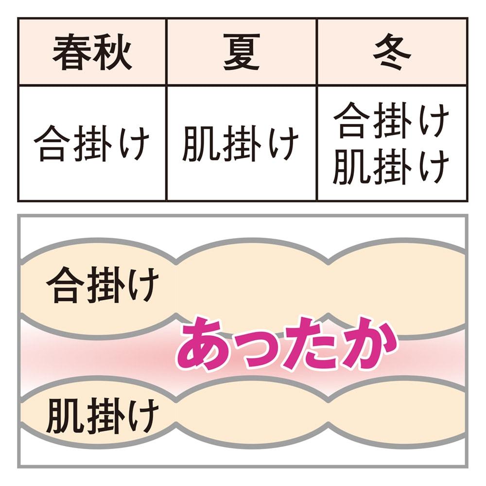ミクロガード(R)プレミアム布団シリーズ お得な2枚合わせ掛け布団+敷きパッド シングル3点セット 合掛け 肌掛け 洗える2枚合わせ掛け布団 室温にあわせて使い分けできる便利な2枚合わせ。1枚ずつ洗え、お手入れもラクラクです。 2枚の布団のズレを防ぐホック付き