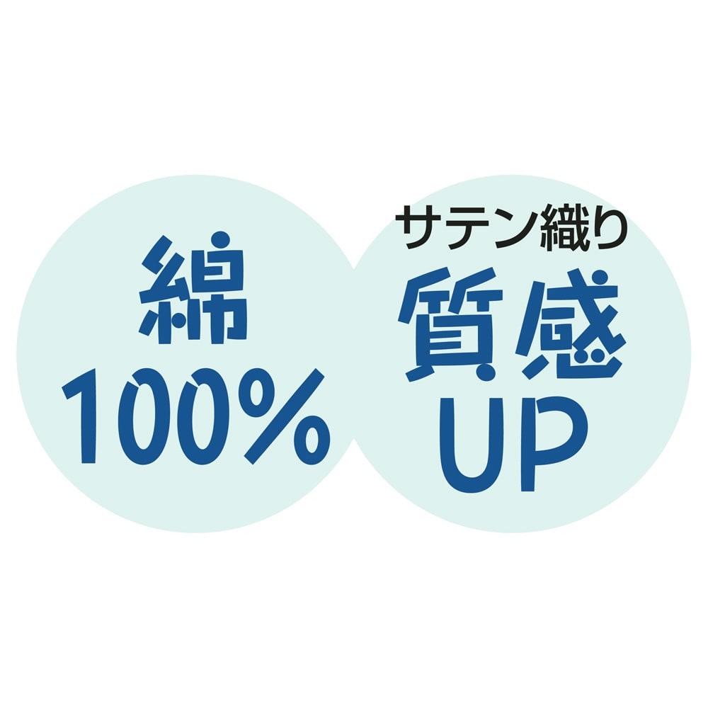 サテン織で質感UP!綿100%のダニゼロック枕カバー 普通判(同色2枚組) 綿100%のサテン織で、なめらかで上質な肌触り