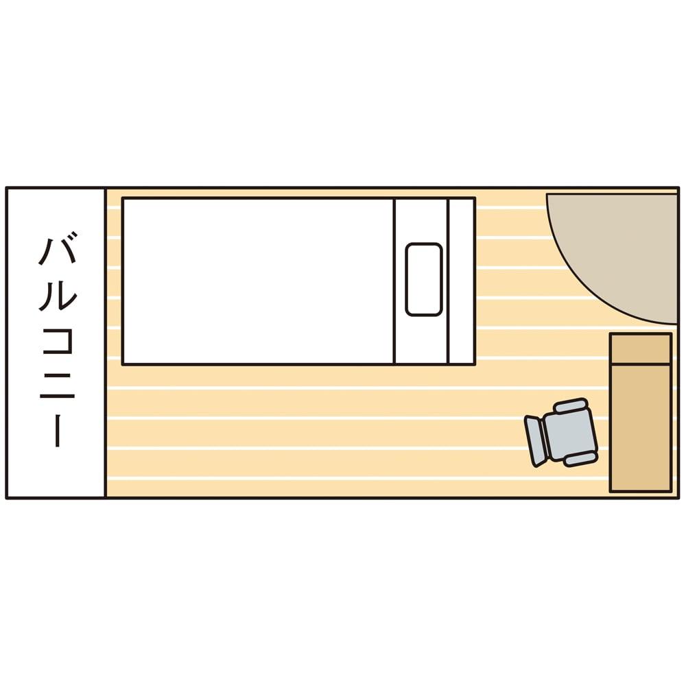 間仕切り仕様 大容量収納チェストベッド フレームのみ ドア側を間仕切りにすると外を眺める事の出来るプライベート空間が生まれます。
