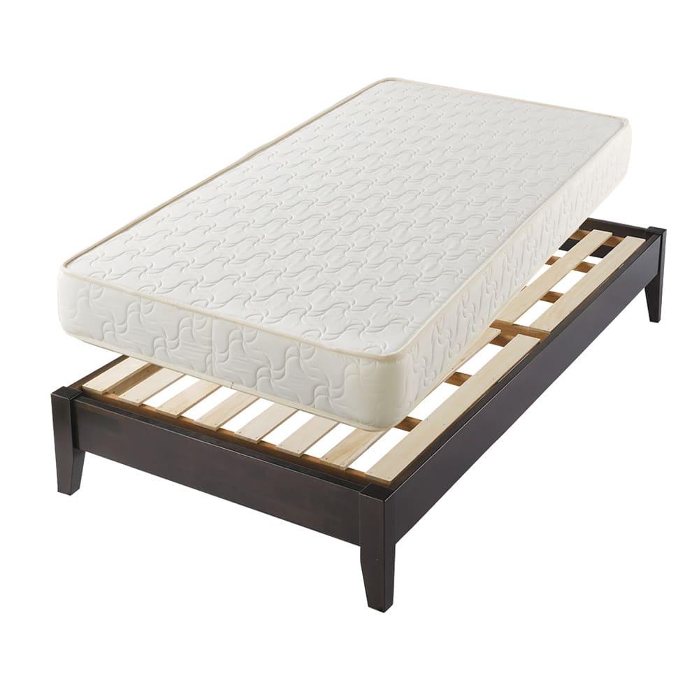 30サイズバリエーションベッド(国産マットレス付き) 長さ195cm 幅76~140cmまで5サイズ マットレスは国産のボンネルコイルマットレスをセット。ベッドもマットも日本製です。